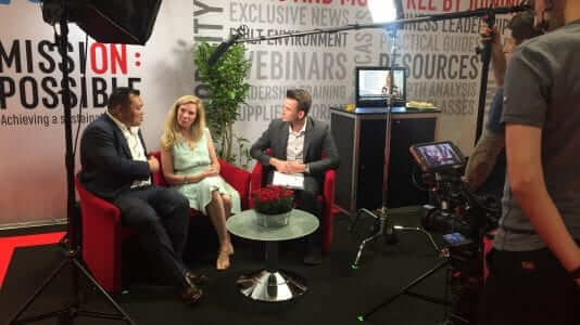 Pop-up TV studios are a great way to capture insights at your trade show, conference or other event.