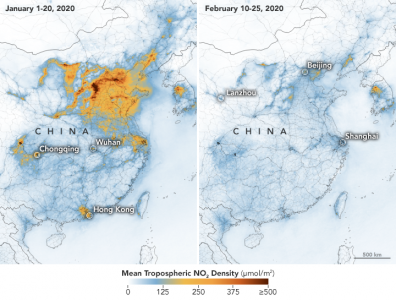 illustrates coronavirus reduced travel pollution